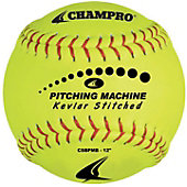 "Champro Kevlar 12"" Stitched Pitching Machine Softball (Dozen"