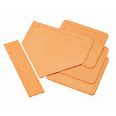 Champion Sports Tan Indoor/Outdoor Throw Down Bases - Set of 5