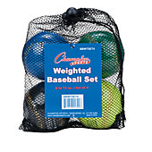 Champion Sports Weighted Training Baseballs (4 Pack)