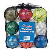 Champion Sports Weighted Training Baseballs (9 Pack)