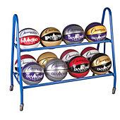 Champion Sports 12-Ball Powder-Coated Ball Storage Cart