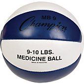 Champion Sports Leather Medicine Ball