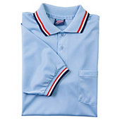 Dalco Umpire Short Sleeve Light Blue/Scarlet Shirt