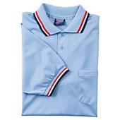Dalco Umpire Short Sleeve Light Blue/Scarlet Shirt