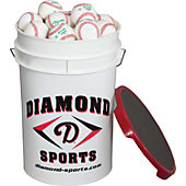 Diamond Bucket with  DOLA Baseballs (30 Balls)