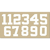 "Pro Tuff 2.5"" Die Cut Number Sheet"