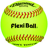 Diamond DFX FlexiBall Yellow Practice Baseballs (Dozen)