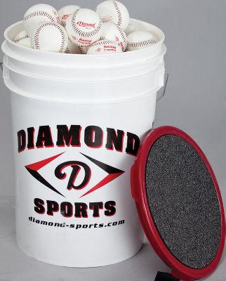 Diamond Pitching Machine Baseballs with Bucket (30 Balls)