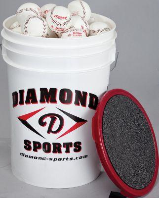 Diamond Pitching Machine Baseballs with Bucket (30 Balls)