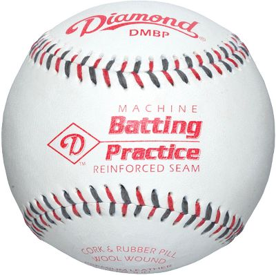 Diamond Leather Pitching Machine Baseball Dozen
