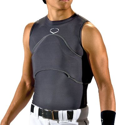 Evoshield Grey Chest Rib Protector Baseball Performance Shirts