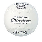 deBeer Official Clincher Gold Stamped Softball (6 Pack)