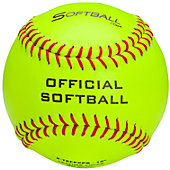 "Softball Sales 12"" Yellow Leather Practice Softball (Dozen)"