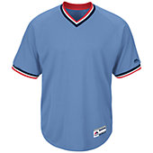Majestic Men's Cool Base Short Sleeve V-Neck Baseball Jersey