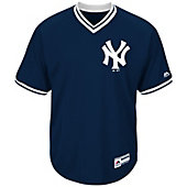 Majestic Men's Cool Base V-Neck MLB Replica Baseball Jersey