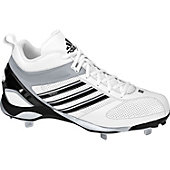 Adidas Diamond King Mid Metal Wht/Blk Baseball Cleats