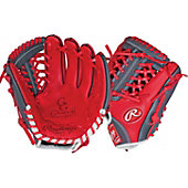 "Rawlings Limited Edition GG Gamer XLE Series Scarlet/Gray 11.25"" Baseball Glove"