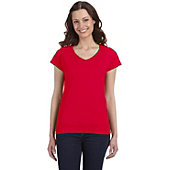 Gildan Women's SoftStyle Junior Fit V-Neck T-Shirt