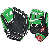 "Rawlings GG Gamer XLE Neon Series Green 11.25"" Baseball Glove"