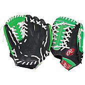"Rawlings GG Gamer XLE Neon Series Green 11.5"" Baseball Glove"