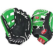 "Rawlings GG Gamer XLE Neon Series Green 11.75"" Baseball Glove"