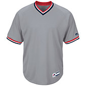 Majestic Youth Cool Base Short Sleeve V-Neck Baseball Jersey