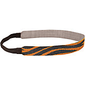 "Zebra Glitter Sports 3/4"" Orange/Blk Sports Headband"