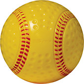"HDSports 9"" Dimpled Rubber Practice Baseball with Red Seams (1 Dozen)"