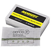 Bangerz Defog-It Anti-Fog Wipes with Carry Case