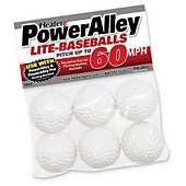Heater Sports PowerAlley 60 MPH White Soft-Lite Baseballs (P