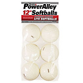 "Heater Sports PowerAlley 12"" Lite Softballs (Pack of 6)"