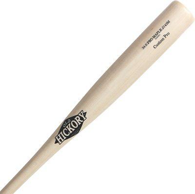 Old Hickory White Wash Maple Wood Baseball Bat