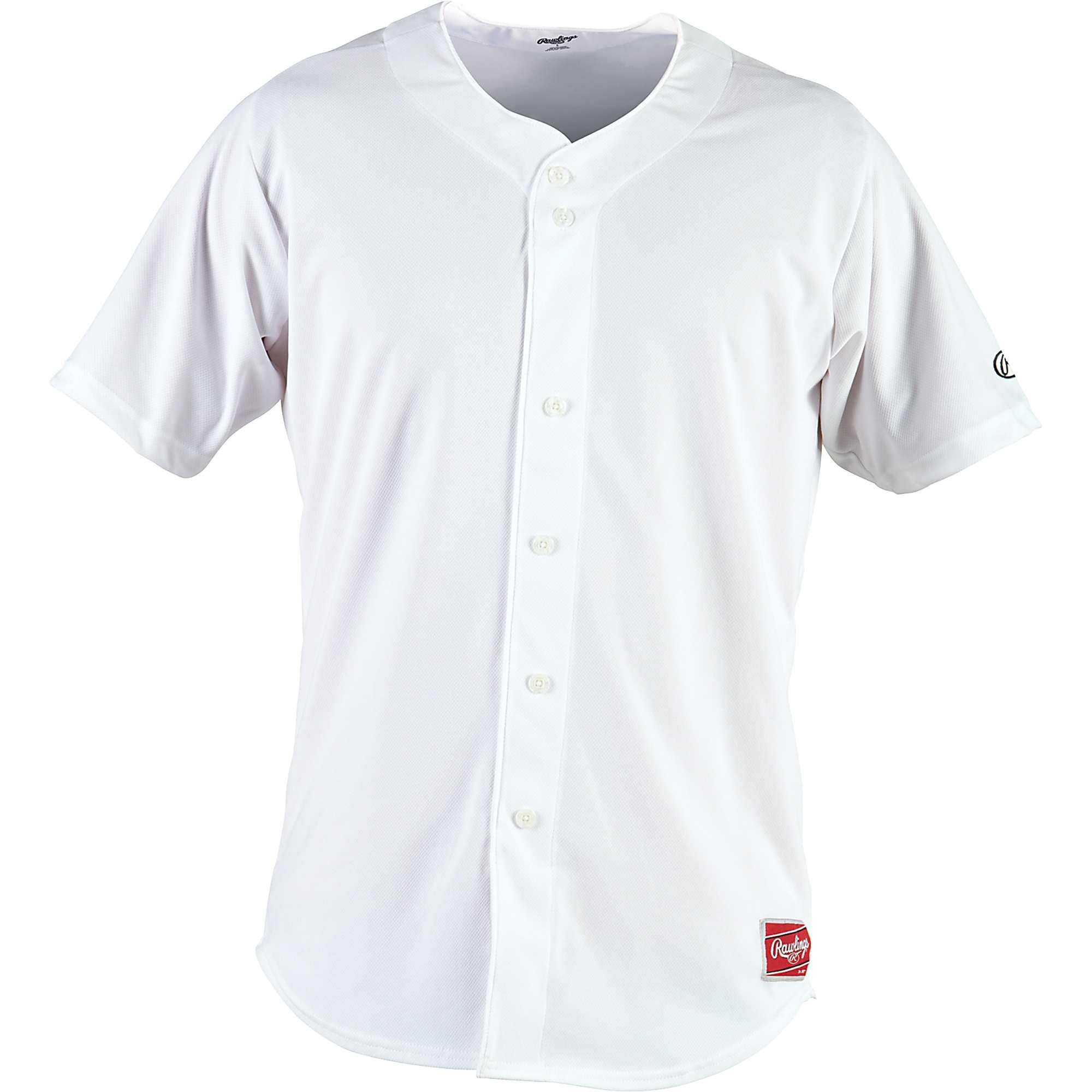 rawlings men 39 s faux button baseball jersey ebay. Black Bedroom Furniture Sets. Home Design Ideas