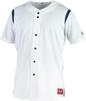 Rawlings Men's Mock Faux Button Baseball Jersey