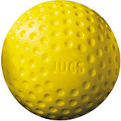 "Jugs Sports Yellow 9"" Dimple Baseballs (Dozen)"