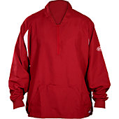 Louisville Slugger Adult 1/4 Zip Long Sleeve Batting Cage Pu