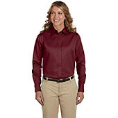 Broder Women's Harriton Long Sleeve Twill Shirt with Stain Release