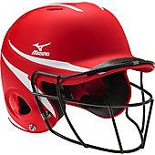 Mizuno MBH252 MVP 2-Tone Batting Helmet w/Fastpitch Facemask