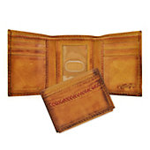 Rawlings Baseball Stitch Leather Trifold Wallet