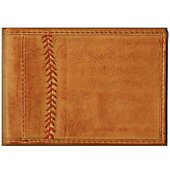 Rawlings Baseball Stitch Vintage Leather Front Pocket Wallet