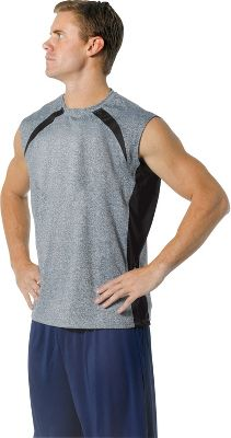 Image of A4 Men's Color Block Performance Muscle Shirt