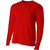 A4 Men's Fusion Cotton Long Sleeve Crew Shirt