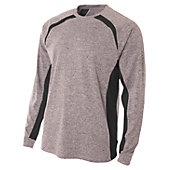 A4 Men's Long Sleeve Color Block Performance T-Shirt