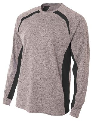 Image of A4 Men's Long Sleeve Color Block Performance T-Shirt