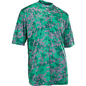 A4 Men's Camo 2-Button Baseball Henley