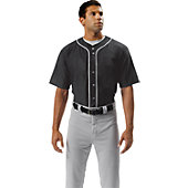 A4 Adult Short Sleeve Full Button Baseball Jersey