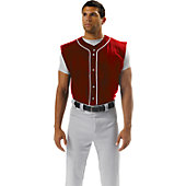 A4 Adult Sleeveless Full Button Baseball Jersey