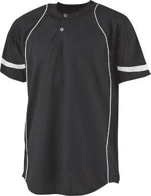 A4 Youth 2 Button Power Mesh Baseball Jersey