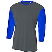 A4 Youth 3/4 Sleeve Utility Baseball Shirt