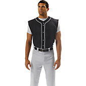 A4 Youth Sleeveless Full Button Baseball Shirt